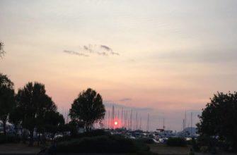 закат в Баре